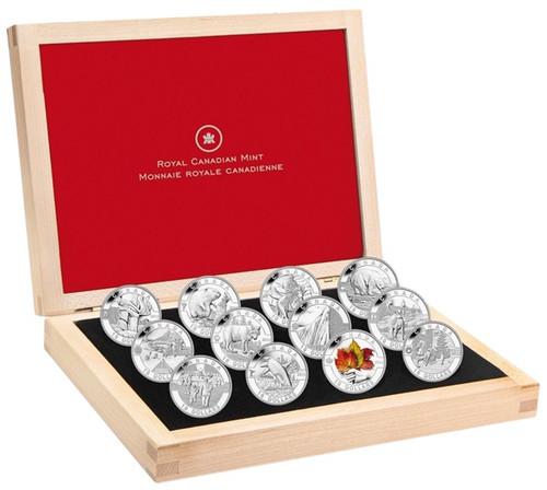 2013 Canada 12-Coin 1//2 oz Silver O/'Canada Set