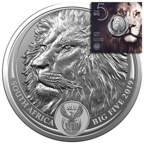 LION BIG FIVE 5 Rand 1 Oz Silver - South Africa 2019