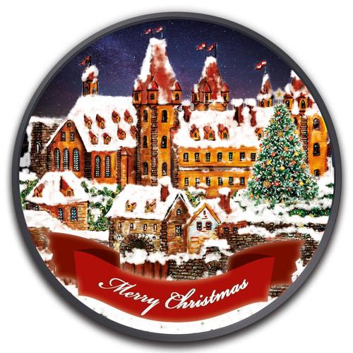 NEUSTADT CHRISTMAS 1 oz Ruthenium Colorized Coin 2019