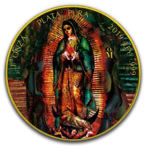 SANTA MUERTE Libertad 1 oz Silver Gilded Coin Mexico 2019