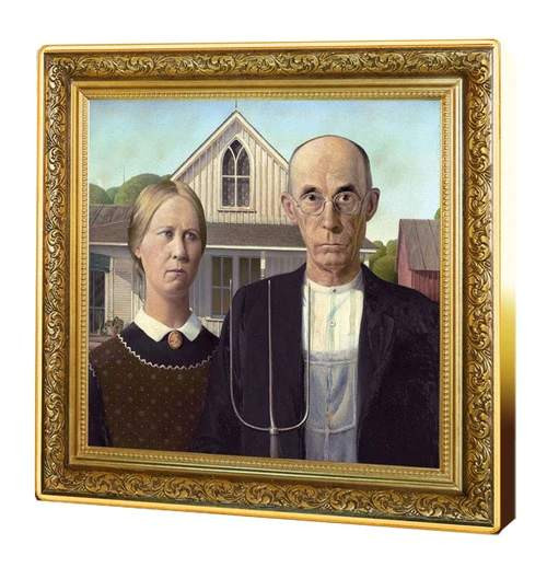 AMERICAN GOTHIC  Grant Wood  1 oz Silver Coin $1 Niue 2019