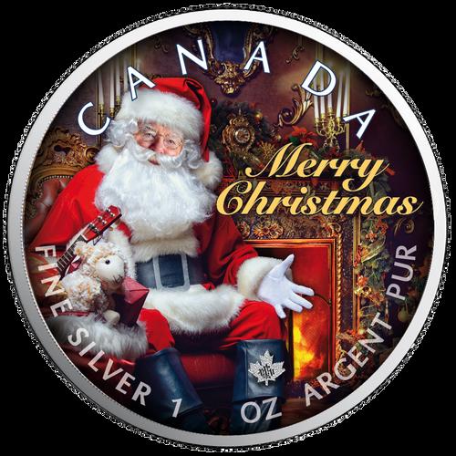 SANTA CLAUS Maple Leaf 1 oz Silver Coin Canada 2019