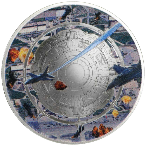 ALIEN INVASION 1 oz Silver  Proof Domed shape Coins 2020 USA