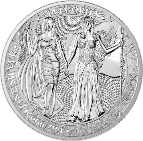 COLUMBIA & GERMANIA 2019 – The Allegories  5 Mark 1 OZ Pure Silver