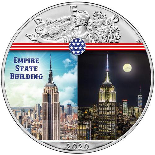 EMPIRE STATE BUILDING Landmarks USA 1 oz Silver Coin 2020 USA