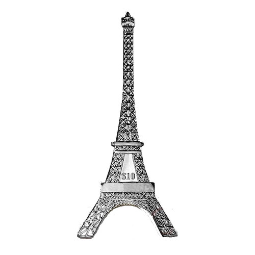 The Eiffel Tower shape Silver Coin 125th Ann. 2014