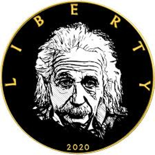 ALBERT EINSTEIN - WE CHANGED THE WORLD series 1 oz Silver Gold plated Coin USA