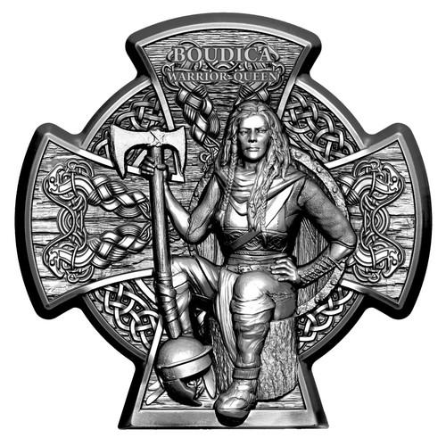 BOUDICA - Warrior Queen 3 Oz Silver Coin Isle of Man 2020