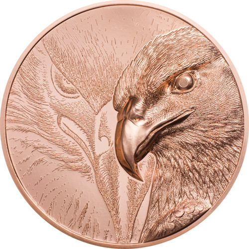 MAJESTIC EAGLE 1 oz Copper Coin 250 Togrog Mongolia 2020