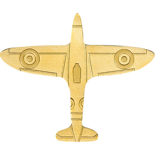 Golden AIRPLANE 0.5 g Golden Shaped Coin Palau