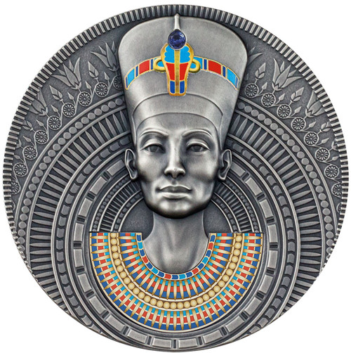 NEFERTITI Queen of Antiquity 3 oz Silver Coin Niue 2020