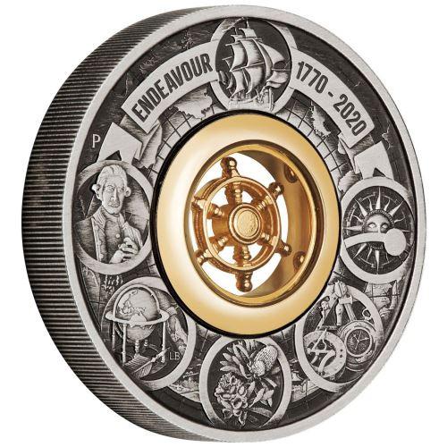 ENDEAVOUR Voyage Of Discovery 2 oz Silver Coin Australia 2020