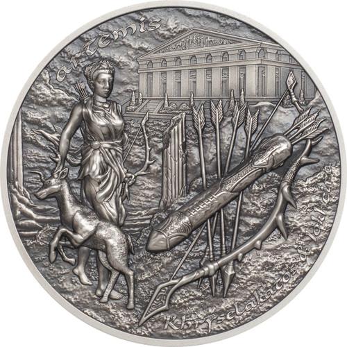 ARTEMIS - BOW & ARROW Silver Piedfort Coin Cook Islands 2020