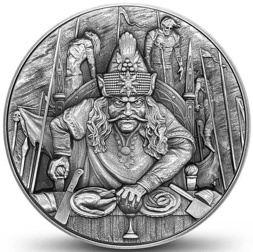 VLAD THE IMPALER Dracula 2 oz Ultra High Relief Silver Coin Niue 2020