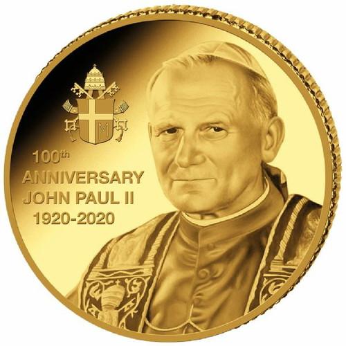 JOHANNES PAUL II. 100th.Anniversary 0.5 g Gold Proof Coin Congo 2020