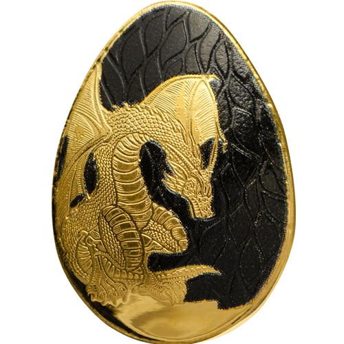 Golden Dragon Egg 0.5 g Gold Proof Coin Palau