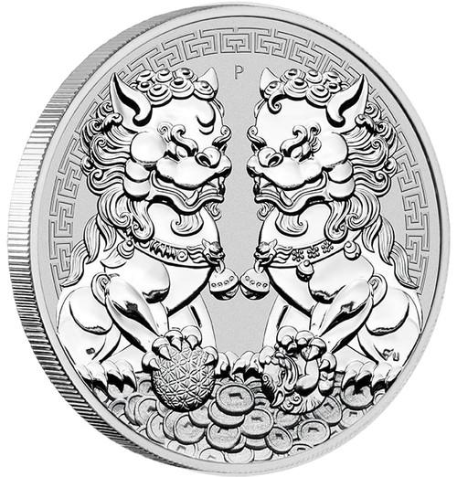 GUARDIAN LION - DOUBLE PIXIU 1 oz Silver Coin BU 2020 Australia