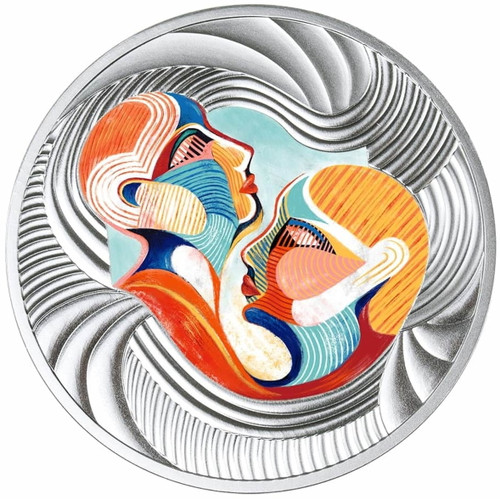 YOU AND ME Silver Coin 500 Francs Cameroon 2020