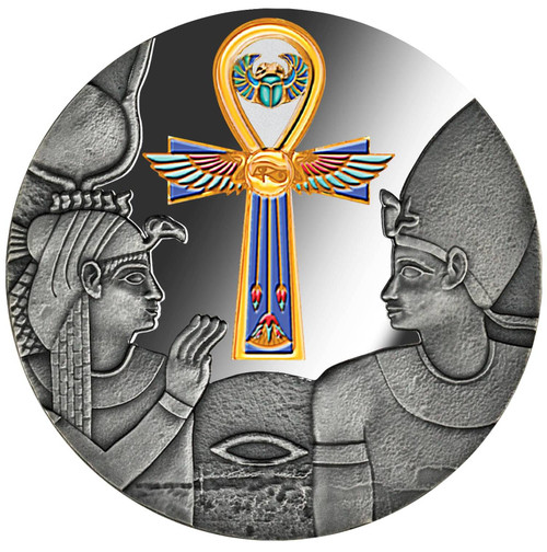 EGYPTIAN ANKH 1 Oz Silver Coin 1000 Francs Cameroon 2020