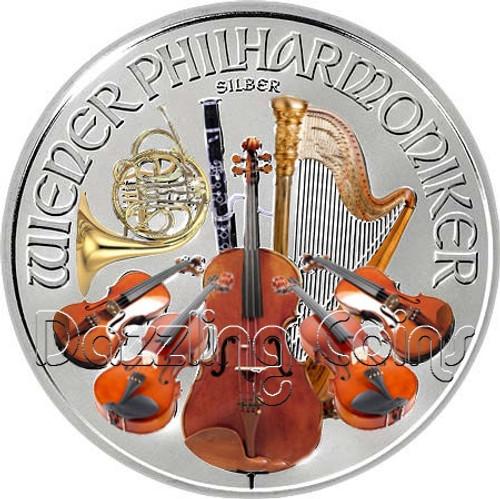 2014 Austria Philharmonic Colorized 1,5 EURO 1oz Silver Coin