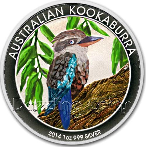 2014 1oz Australian Silver Kookaburra Colorized