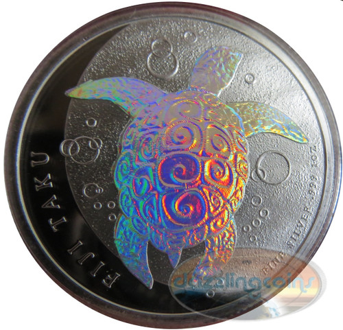2013 1 oz Silver HOLOGRAM NZ Mint $2 Fiji Taku .999