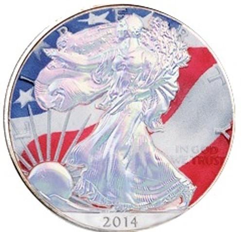 2014 American Eagle Coin Hologram Color Walking Liberty .999