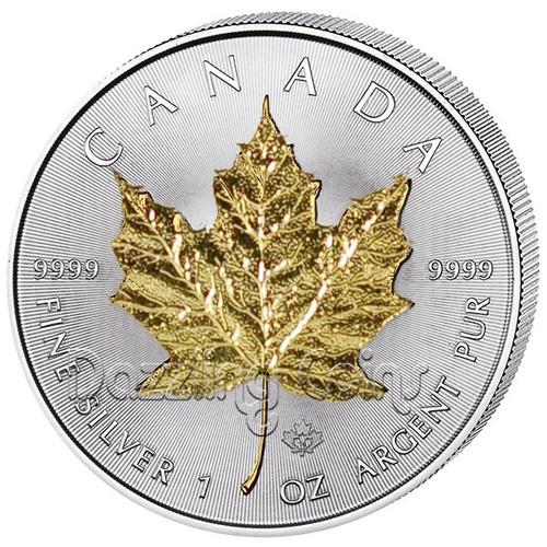 2014 1 oz. Silver Maple Leaf Gilded