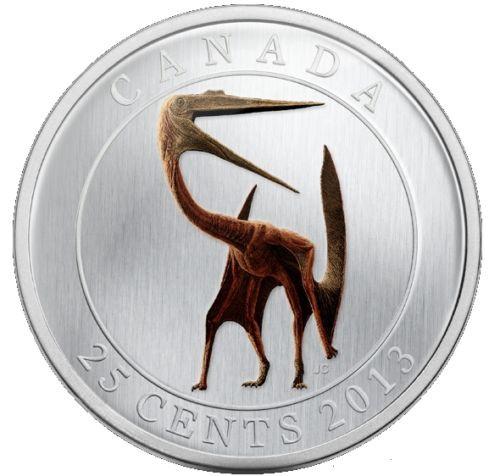 Glow-in-the-dark 'Quetzalcoatlus Lakustai' 25-Cent Coin Canada 2013