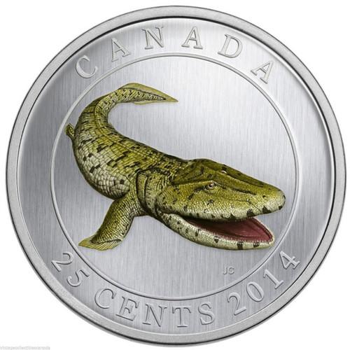 Glow-in-the-dark Tiktaalik 25-Cent Coin Canada 2014