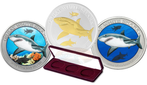 Great White Shark  .999 Silver Coin