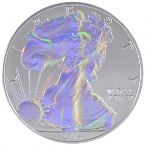 Silver Eagle Hologram 1 oz Coin USA 2014