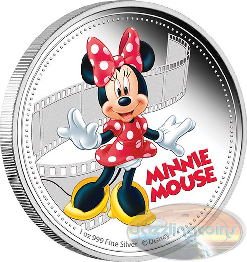 The Mickey & Friends- Minnie Mouse - 1 oz. Silver Coin Niue 2014