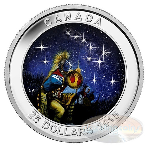 2014 Fine Silver Coin - Glow in the Dark - Star Charts - The Quest
