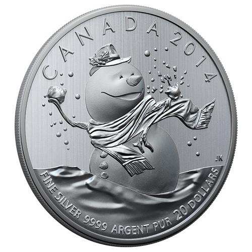 $20 'Snowman' Canada 2014 Fine Silver Coin