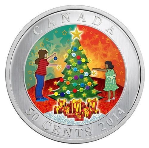 Christmas Tree - Lenticular 50-Cent Holiday Coin Canada 2014