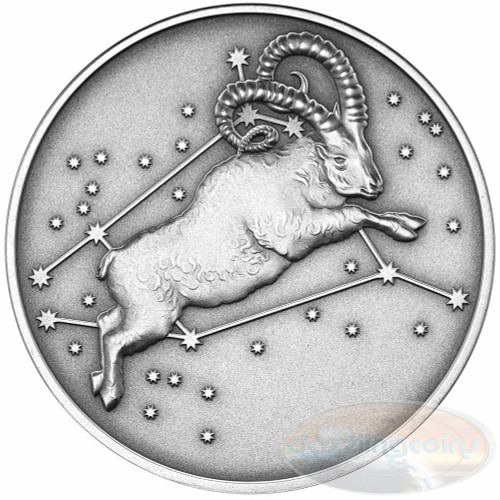 2015 Myth & Legend - Aries 1oz Silver Antique Finish Tokelau Coin