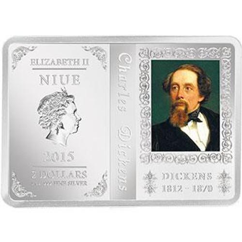 2015 Charles Dickens Niue 1 oz Silver Coin