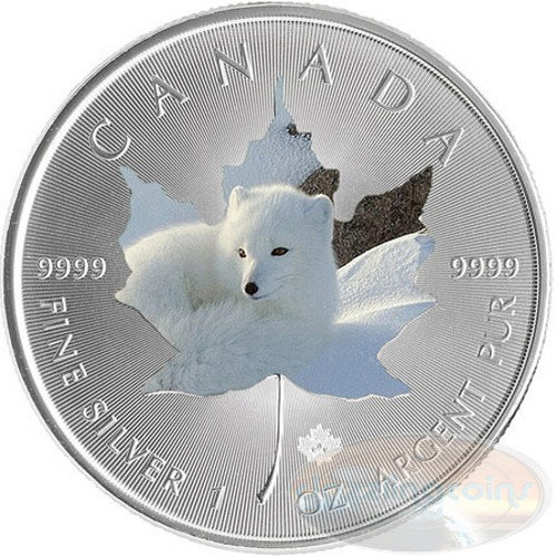 1 oz Maple Leaf Arctic FOX Theme ~ Silver .9999 $5 Canada 2015