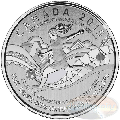 FIFA Women's World Cup Canada 2015™ $20 Fine Silver Coin