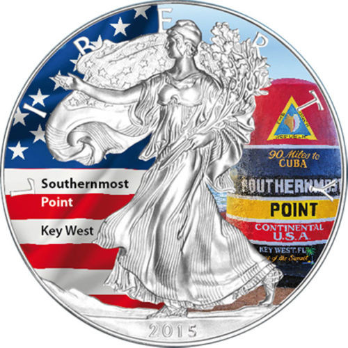 2015 1 oz Silver Eagle Coin - Southernmost Point