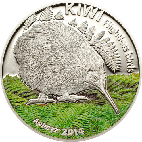 The Kiwi -1 oz. Silver Coin 5$ Cook Islands 2014