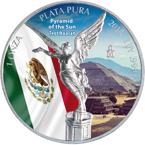 Libertad - Pyramid of the Sun - Teotihuacan 1 oz Silver 2015
