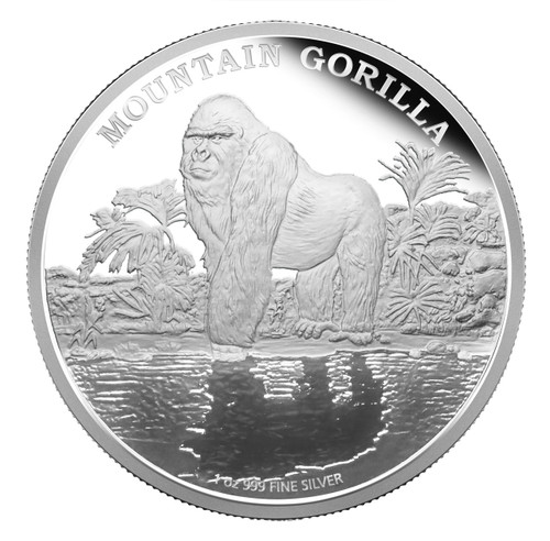 2015 Mountain Gorilla - Niue $2 1 oz Silver Coin