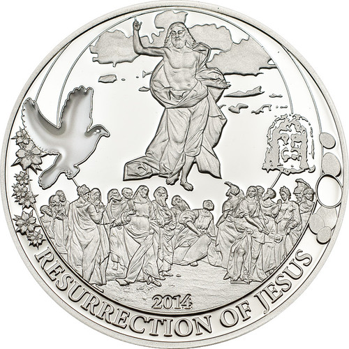 Resurrection of Jesus ~Silver Coin 2$ Cook Island 2014