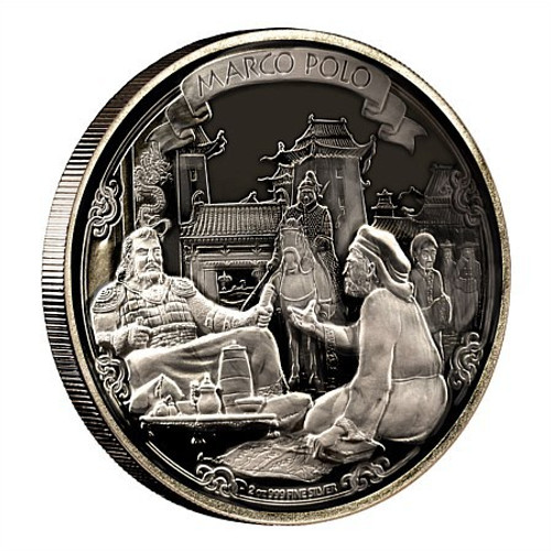 Niue 2015 2 oz Silver Coin - Journeys Of Discovery - Marco Polo