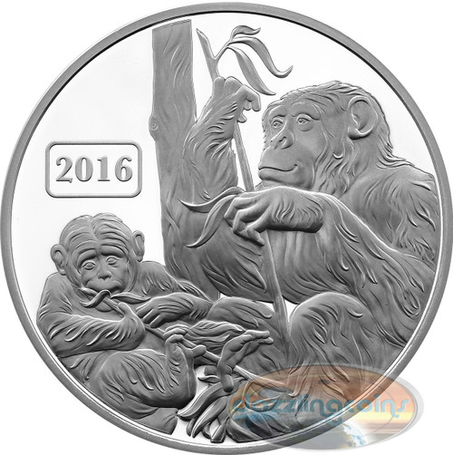 2016 Tokelau 1 Oz .999 Silver Year of the Monkey $5 Proof Coin