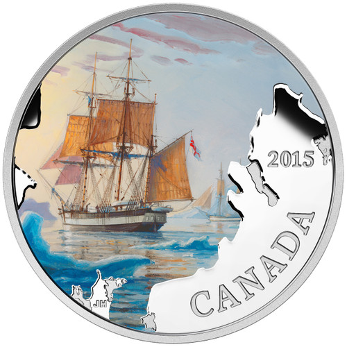 Franklin Expedition - Lost Ships in Canadian Waters - 2015 1 oz Silver Coin