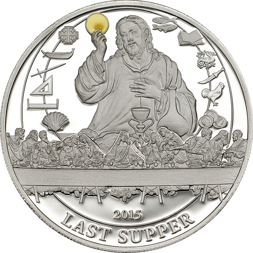LAST SUPPER ~ $2 Palau 2015 Silver Proof Coin