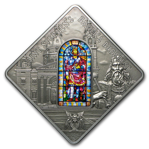 St. Stephen's Basilica Budapest - Sacred Art Silver Coin 10$ Palau 2014